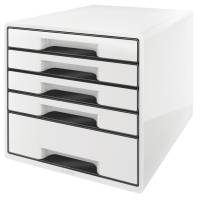 Leitz Desk Cube skuffekabinet med 5 skuffer hvid