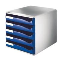 Leitz skuffekabinet med 5 skuffer blå