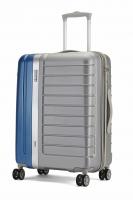 Carlton Duo-tone hardcase kuffert 67cm sølv og blå