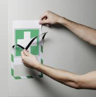 Durable Duraframe magnetisk SECURITY A4 sikkerhedsskilt grøn-hvid