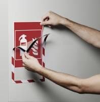 Durable A4 Duraframe magnetisk SECURITY sikkerhedsskilt rød-hvid