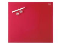 Nobo Diamond magnetisk glastavle 450x450mm rød