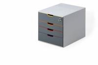 Durable Varicolor safe skuffekabinet med 4 skuffer og lås