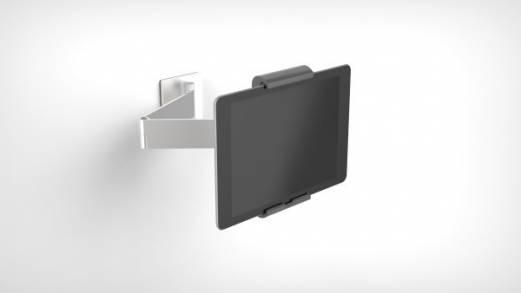 Durable tablet holder til væg med udtræk arm.