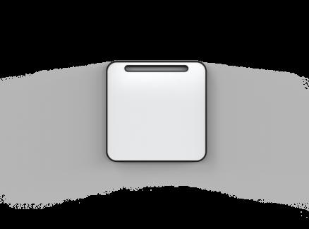 Lintex Note magnetiske flytbar whiteboardtavle 80x80cm