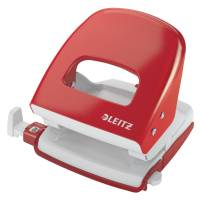 Leitz hulapparat 5008 2-huls rød, 30 ark