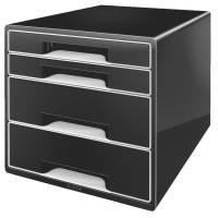 Leitz Desk Cube skuffekabinet med 4 skuffer sort