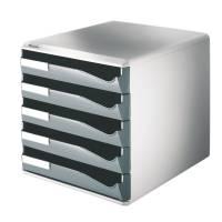 Leitz skuffekabinet med 5 skuffer grå