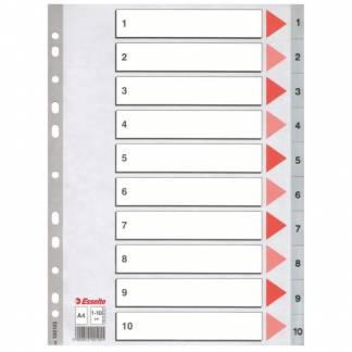Esselte plastregister A4 med 1-10 grå til den bedste online pris! fbef8488a9940