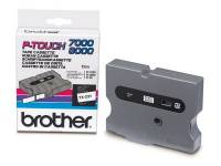 Brother tape TX651 24mm sort på gul