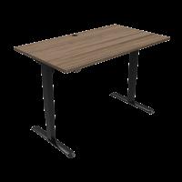 ConSet hæve-sænke bord 140x80cm valnød med sort stel