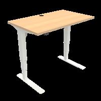 ConSet hæve-sænke bord 100x60cm bøg med hvidt stel