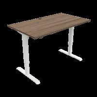 ConSet hæve-sænke bord 140x80cm valnød med hvidt stel