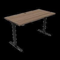 ConSet hæve-sænke bord 160x80cm valnød med sort stel