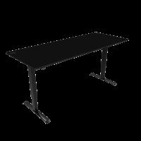 ConSet hæve-sænke bord 200x80cm sort, sort stel