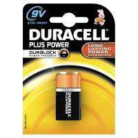 Duracell Plus Power 9V batteri, 2 stk