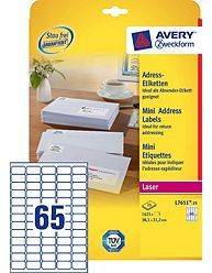 Avery L7651-25 mini etiketter til laser 38,1x21,2mm