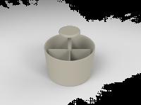 Lintex Bowl Fog tilbehørssæt 15x15cm grå