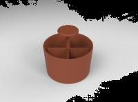 Lintex Bowl Earth tilbehørssæt 15x15 cm rødbrun