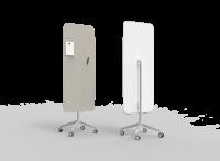 Lintex Flow Mobile glastavle 65x195cm Shy, lys grå