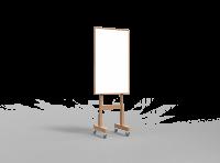 Lintex Wood mobil whiteboard med træ ramme 70x120cm