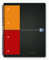 Oxford International NoteBook A4+ kvadreret