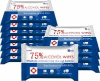 Alcohol wipes 75% desinfektionsservietter 17x12cm