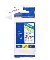 Brother tape TZe-261 36mm sort på hvid