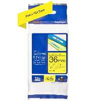 Brother tape TZe661 36mm sort på gul