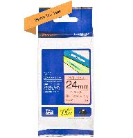 Brother tape TZeB51 24mm sort på neon orange