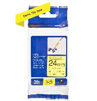 Brother fleksibel tape TZe-FX651 24mm sort på gul