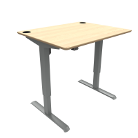ConSet hæve-sænke bord 100x80cm ahorn, alu stel