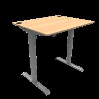 ConSet hæve-sænke bord 100x80cm bøg, alu stel