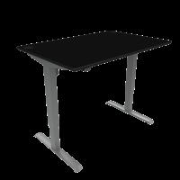 ConSet hæve-sænke bord 100x80cm sort, alu stel