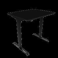 ConSet hæve-sænke bord 100x80cm sort, sort stel