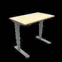 ConSet hæve-sænke bord 100x60cm ahorn, alu stel