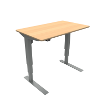 ConSet hæve-sænke bord 100x60cm bøg, alu stel