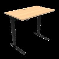 ConSet 501-37 hæve-sænke bord 100x60cm bøg med sort stel