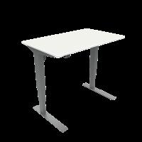 ConSet hæve-sænke bord 100x60cm hvid, alu stel
