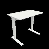 ConSet hæve-sænke bord 100x60cm hvid, hvid stel