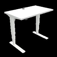 ConSet hæve-sænke bord 100x60cm hvid med hvidt stel