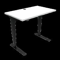 ConSet hæve-sænke bord 100x60cm hvid med sort stel