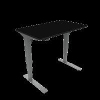 ConSet hæve-sænke bord 100x60cm sort, alu stel
