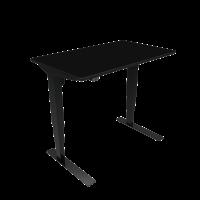 ConSet hæve-sænke bord 100x60cm sort, sort stel
