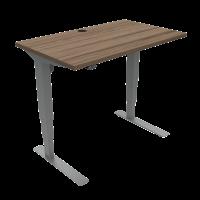 ConSet 501-37 hæve-sænke bord 100x60cm valnød med sølv stel