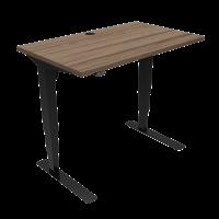 ConSet hæve-sænke bord 100x60cm valnød med sort stel