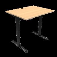 ConSet 501-33 hæve-sænke bord 100x80cm bøg med sort stel