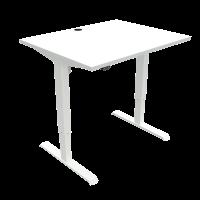 ConSet hæve-sænke bord 100x80cm hvid med hvidt stel