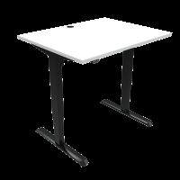 ConSet 501-33 hæve-sænke bord 100x80cm hvid med sort stel