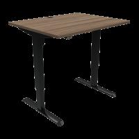 ConSet hæve-sænke bord 100x80cm valnød med sort stel